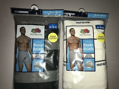 Fruit of the Loom Men's Boxer Briefs 6-PACK S-3XL ASSORTED COLORS
