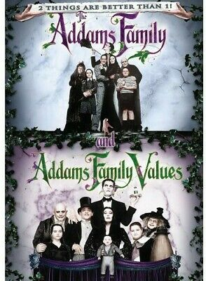 The Addams Family / Addams Family Values DVD Incredible Value and Free Shipping!