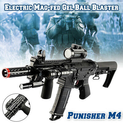 🇦🇺 AU Stock DIY Electric M4 Punisher Water Bullet Magazine Fed Gel Ball Toy