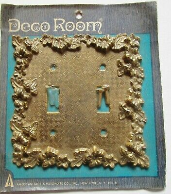 VTG American Tack & Hardware Switch Plate Cover 75TT Florentina Antique Brass