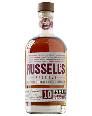 Russell's Reserve 10 Year Old Kentucky Straight Bourbon Whiskey 750mL Whisky cas