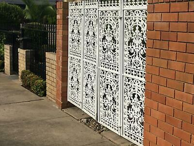 Vintage 1960's cast iron gates. Excellent condition. 1 driveway bifold & 1 entry