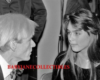 ANDY WARHOL candid photo with YOUNG BROOKE SHIELDS (103)