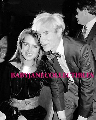 BROOKE SHIELDS with ARTIST ANDY WARHOL NYC CANDID photo(99)