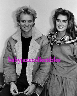 STING with BROOKE SHIELDS 80s CELEBRITY candid photo 111