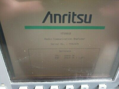Anritsu Mt8801B Radio Comunication Analyzer  W/ Opt 01 02 07 Mx880115A Mt22275 (