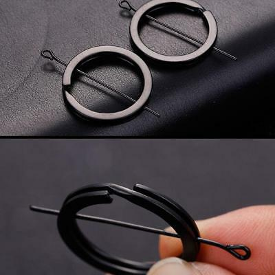 12pcs Sale Strong Flat Split Ring Hoop Ring Keyring Metal Loop Key Chains Rings