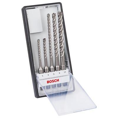 Bosch Punte Parete Punta Trapano Sds Plus-7x Set 5 Pz. ( 5/6/8/8 / 10 mm)