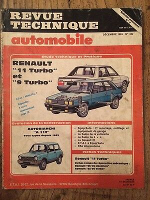Revue Technique Automobile RENAULT 11 Turbo et 9 Turbo