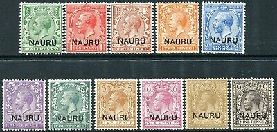NAURU-1916-23 Set to 1/- Sg 1-12  UNMOUNTED MINT V30464