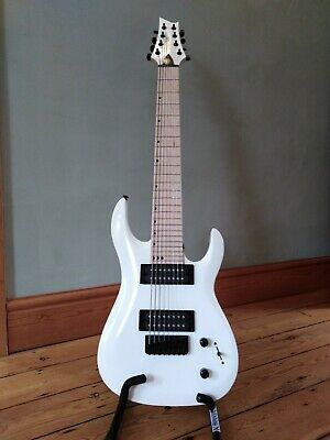 8 STRING ELECTRIC guitar,Harley Benton,White,mint condition