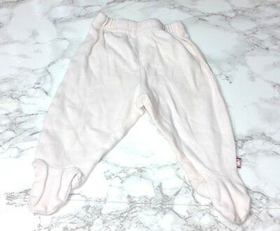 MOTHERCARE Baby GIRLS Footed PYJAMA BOTTOMS Age NEWBORN 10 lbs Light Pink