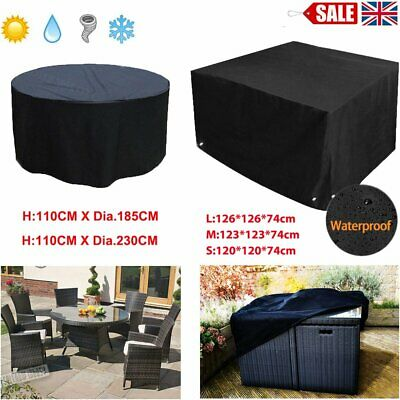 Heavy Duty Round Table Chair Furniture Cover Outdoor Waterproof Patio & CR