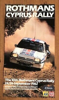 Vintage Cyprus Rothmans Rally Poster 1982