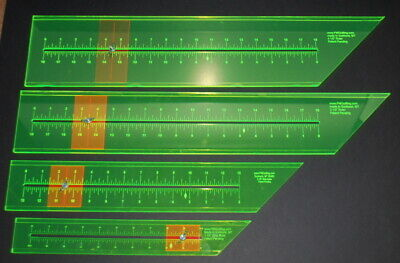 6 Quilting Acrylic PMQuilting Rulers Adjustable Jelly Roll Honey Bun USA Made