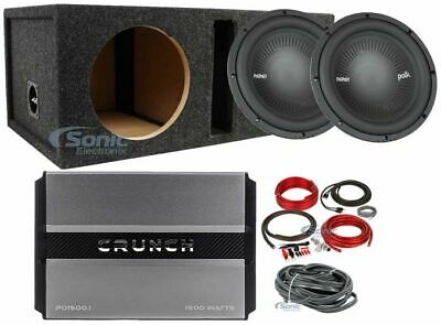 "Polk1200W Peak 400W RMS 10"" MM1 Series Dual 4-Ohm Car Subwoofer Package"