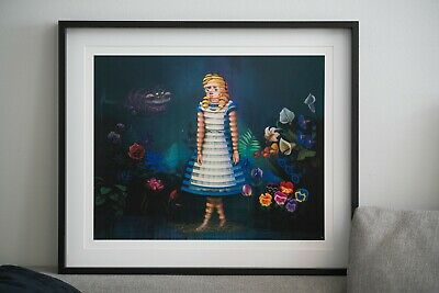 Super A Stefan Thelen We're All Mad Here Print Alice In Wonderland
