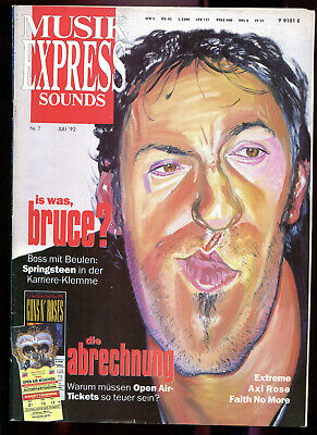 MUSIK EXPRESS Sounds  Nr. 7  1992   Bruce Springsteen    Axl Rose   Extreme