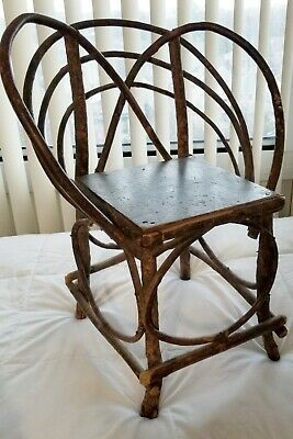 RARE Antique Child's Twig or Adirondack Chair, Good Cond. from Indiana or Ohio
