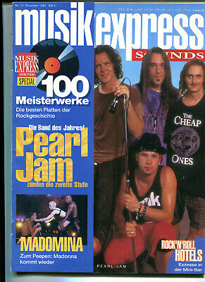MUSIK EXPRESS Sounds  Nr.11  1993  :  Pearl Jam   Madonna    Scorpions