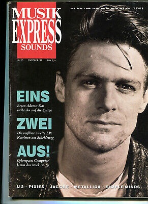 MUSIK EXPRESS Sounds  Nr. 10  1991  :  Bryan Adams   U2   Pixies   Mick Jagger