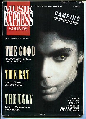 MUSIK EXPRESS Sounds  Nr. 11  1989  :  Terence Trent D'Arby   PRINCE