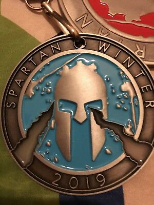 Spartan Race Medal Winter SPRINT 2019 (rare) + 1/3 trifecta