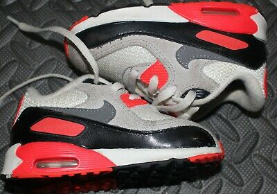 BABY TODDLER NIKE air max 90 black white red 7 7c $35.00
