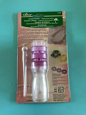 Clover~3100 French Knitter~Bead Jewelry Maker~3 Interchangeable Heads