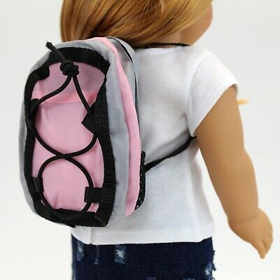 18 Inch Doll Accessory - Sporty Pink Backpack - Fits American Girl Dolls