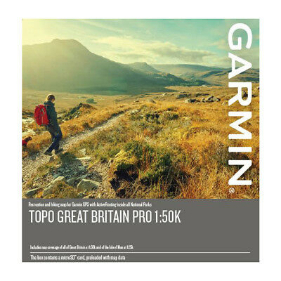 NEW 2019 Discoverer TOPO Great Britain PRO1:50k Full  for use with Garmin..