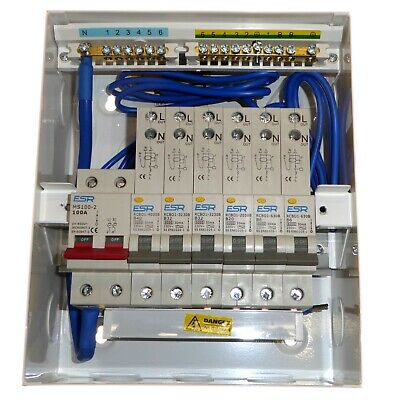 New Metal Consumer Unit with 6x RCBOs ( Your Choice 6 - 40A ) 100A Switch AMD3