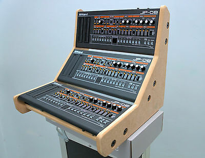 Triple Roland Boutique Stand Holds 3 Synths Sh01A Se02 Jp08 Ju06 A01 Tr09 Tr08