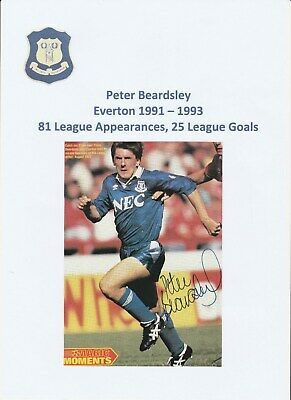 Peter Beardsley Everton 1991-1993 Original Football Autograph Magazine Picture