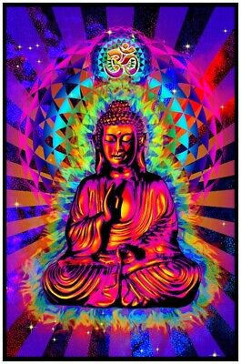 Cosmic Om - Buddha - Blacklight Poster - 23X35 Flocked 53188