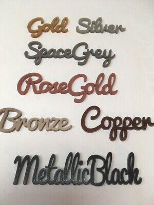 Personalised Place Names - Table Setting - Wedding Birthday party  - Metallics