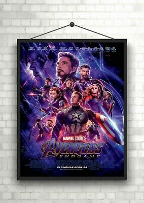 Avengers End Game Marvel Movie Poster Art Print A0 A1 A2 A3 A4 Maxi