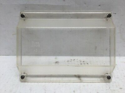 Bussmann CPDB-3 Clear Plastic Cover For Distribution Blocks (Lot of 5)