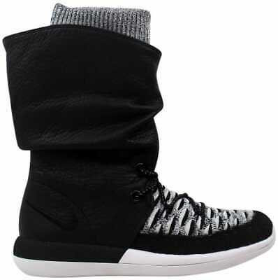 official photos 09b3c 0646e Nike Roshe Two Hi Flyknit W Black Black-White 861708-002 Women s Size
