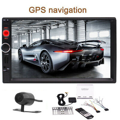 """GPS 7"""" HD Car Stereo Radio MP5 Player Bluetooth Touch Screen With Rear Camera"""