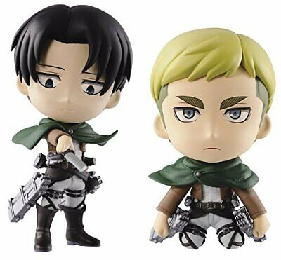 The Most Lottery Attack on Titan Chibi set Figure Erwin Smith Japan & Rivai