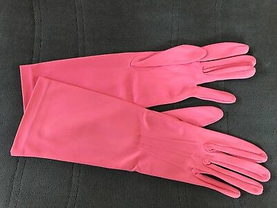 Vintage 1950s pink gloves by Pene Laird size 7.5