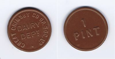 Great Grimsby Co-op Society Ltd - Dairy Dept  1 Pint Token Rare Collectable Item