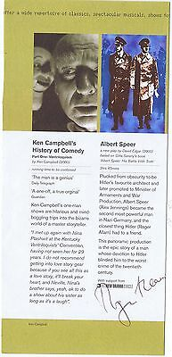 Roger Allam Hamd Signed Theatre  Flyer   Albert Speer His Battle With The Truth