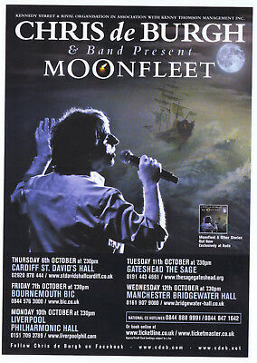 Chris de Burgh   Moonfleet Concert Tour   Playbill  Concert  Flyer  RARE