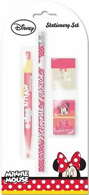 Disney Minnie Mouse Ensemble Écriture Inclus Ball Stylo ,Crayon,Effaceur