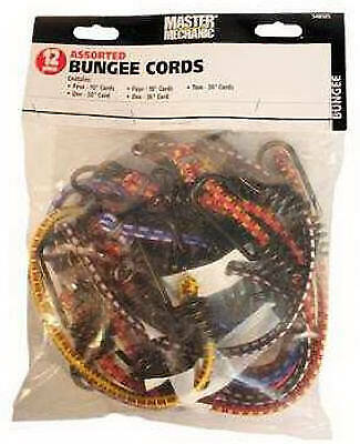 TRADE OF AMTA INC DBA BOXER TOOLS 12-Pack Assorted Bungee Cords MM41