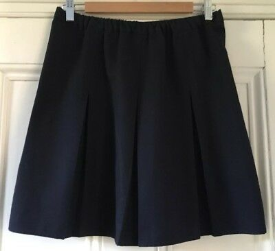 1 x George at Asda Girls' Navy Blue Box Pleated School Skirt 8-9 Years 128-134cm