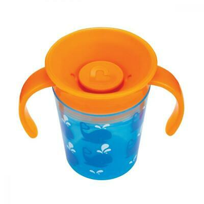 Munchkin 360 Degrees Deco Trainer Cup 177 ml Blue Whale 2 Handle Baby Sippy Mugs