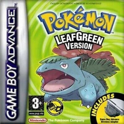 Nintendo GameBoy Advance - Pokemon Blattgrüne Edition / Leafgreen ENGLISCH Modul